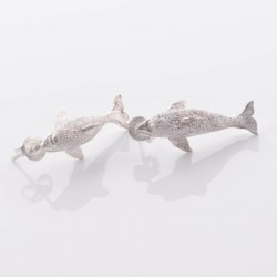Sterling silver earrings dolphin design